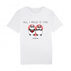 All I need is you - Tshirt blanc Homme - Jean Michel Panda