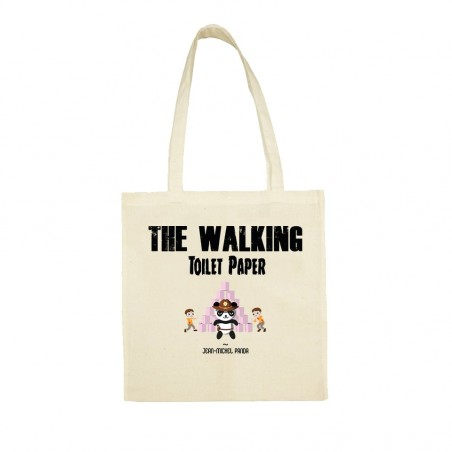 The walking toilet paper - Totebag beige réutilisable - Jean Michel Panda