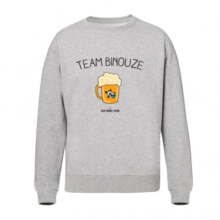 Sweat Unisex - Team Binouze Gris