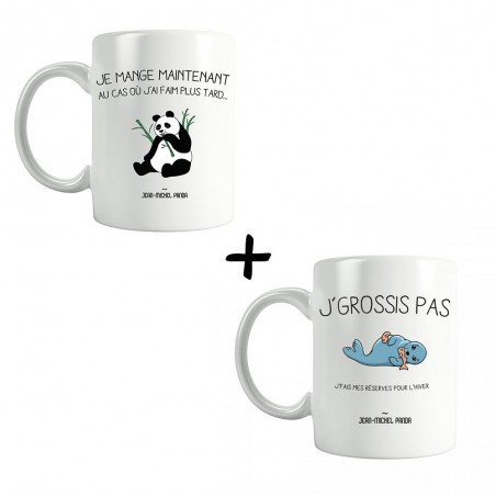 Pack Mugs - J'grossis pas...