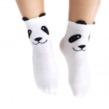 Chaussettes - Panda blanches