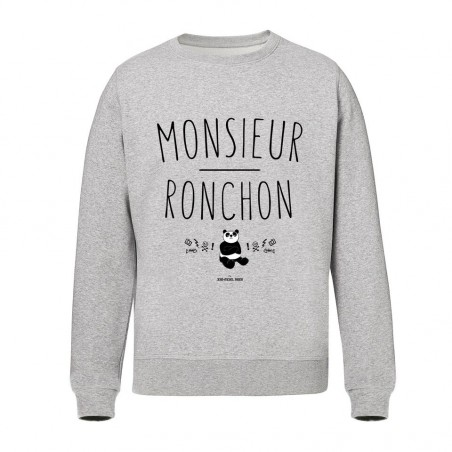 Sweat Homme Gris - Monsieur Ronchon panda