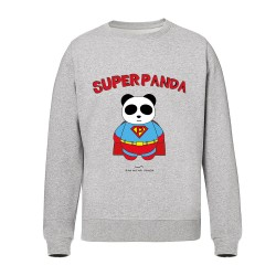 Superpanda - Sweat shirts gris