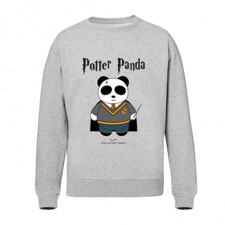 Sweat Unisex gris - Potter Panda