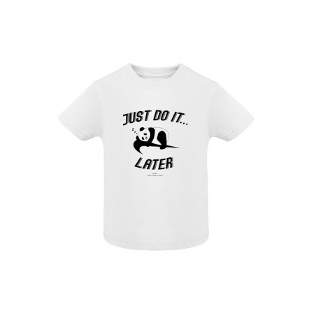 Just do it later - Tshirt enfant blanc - Jean Michel Panda