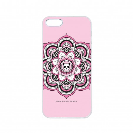 Coque iPhone / Samsung / Huawei - Mandala panda rose