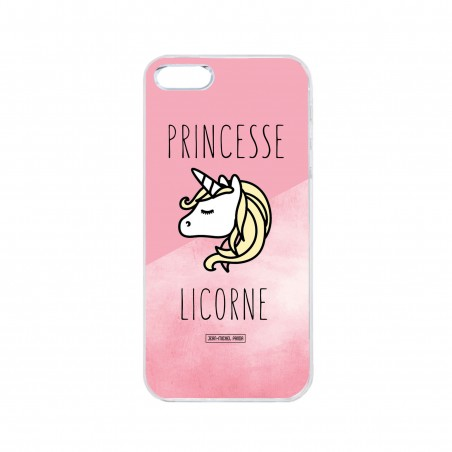 Coque iPhone / Samsung / Huawei - Princesse licorne