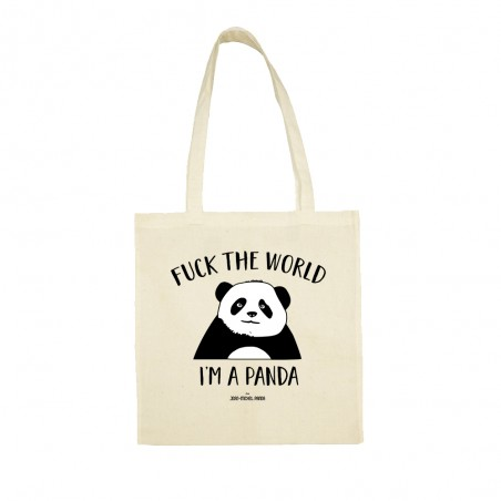 Fuck the world I'm a panda - Totebag - Jean Michel Panda