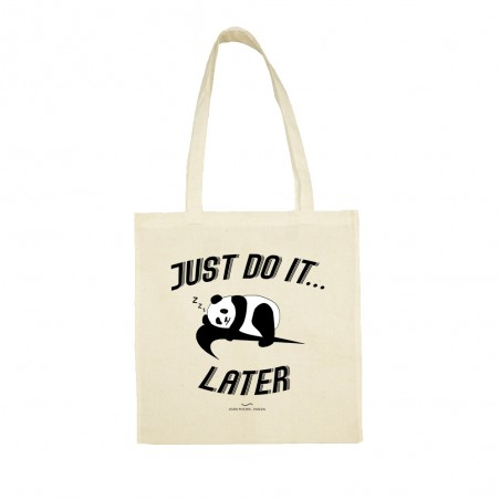 Just do it later - Tote bag - Jean Michel Panda