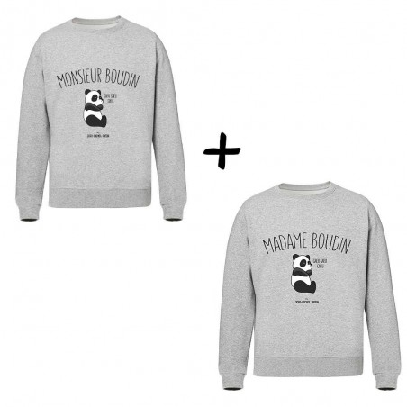 Mr et Mme boudin - Pack Sweats - Jean Michel Panda