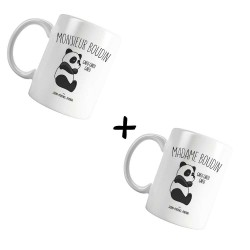 Monsieur & Madame boudin - Pack Mugs blanc - Jean Michel Panda