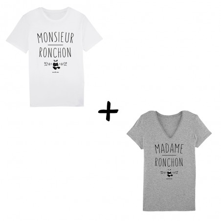 Pack Tshirts - Mr & Mme...