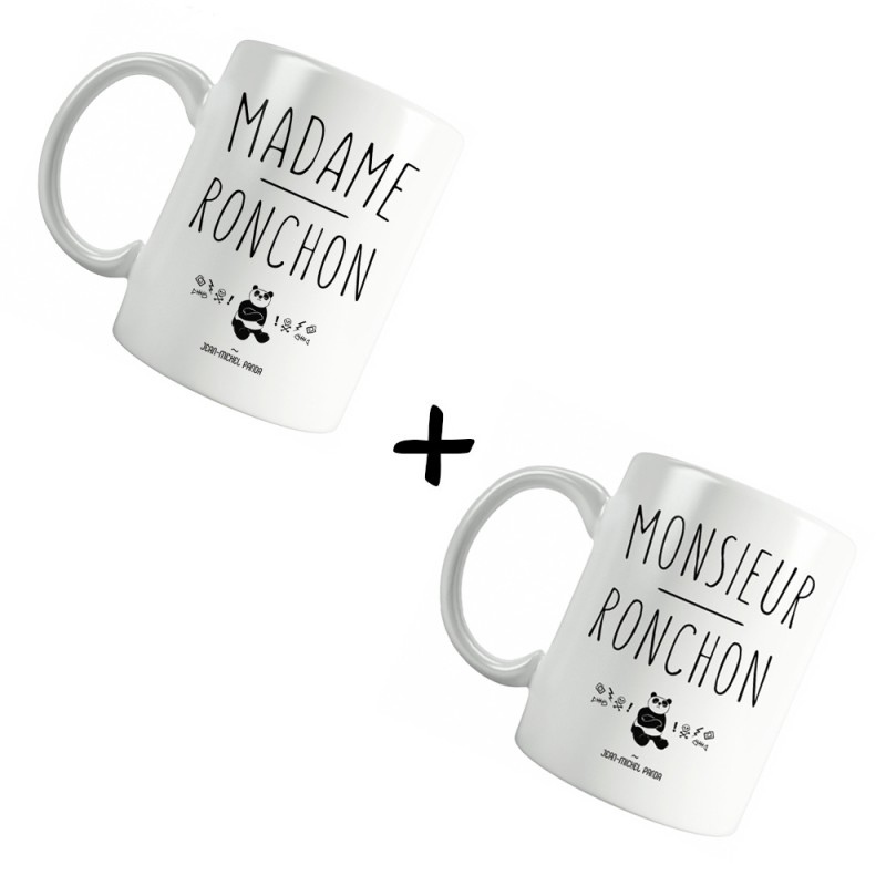 Monsieur & Madame ronchon - Pack Mugs - Jean Michel Panda