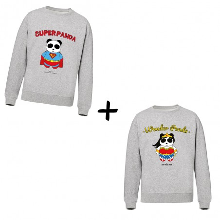 Superpanda et Wonderpanda - Pack Sweats - Jean Michel Panda