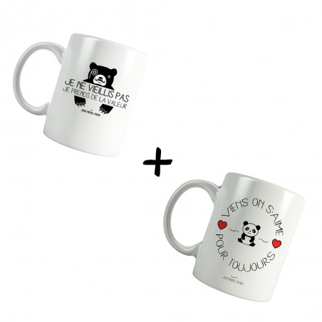 Pack Mugs - On s'aime et on...