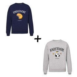 Chocovore et Racletovore - Pack Sweat Unisex - Jean Michel Panda