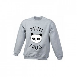 Mini thug - Sweats enfant gris - Jean Michel Panda