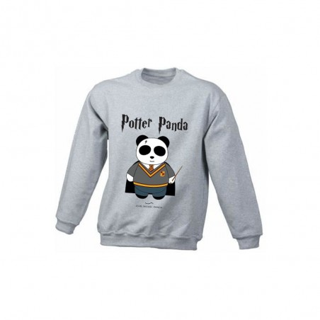 Potter panda - Sweat gris enfant - Jean Michel Panda