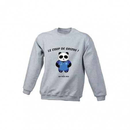 Le coup de grizou - Sweat enfant gris - Jean Michel Panda