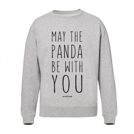 Sweat Gris - May the panda be with you