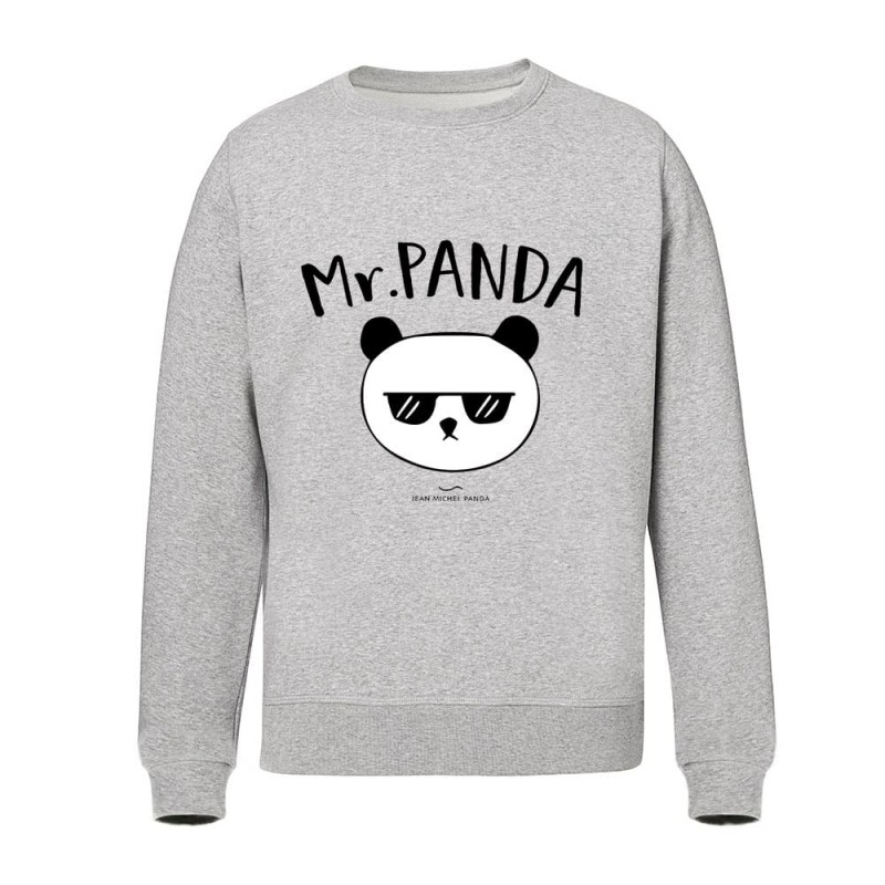 Mr panda - Sweat Homme gris