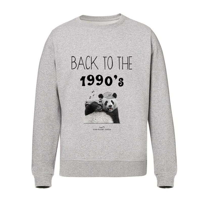Sweat Unisex - Back To The 1990's - Gris