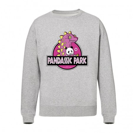 Sweat Fille - Pandassic park ROSE Gris