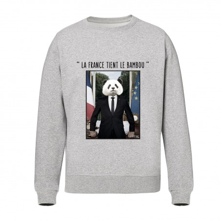 Sweat Unisex Gris - La France tient le bambou