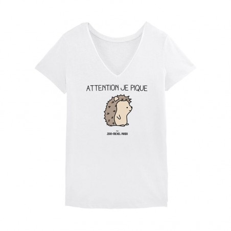 Tshirt Femme - Attention je...