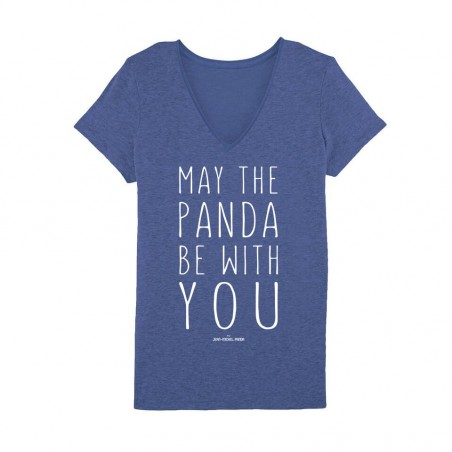 May the panda be with you Tshirt Femme - Bleu Marine