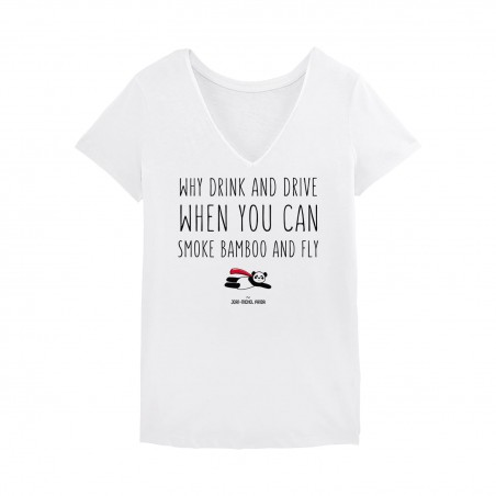 Drink and drive Tshirt Femme - Blanc