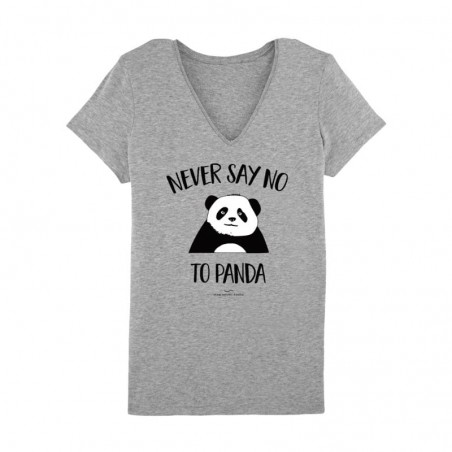 Never say no to panda Tshirt Femme - gris