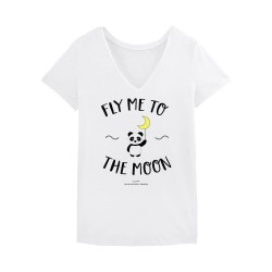 Fly me to the moon Tshirt Femme - Blanc