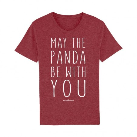 Tshirt Bordeaux Homme - May the panda be with you