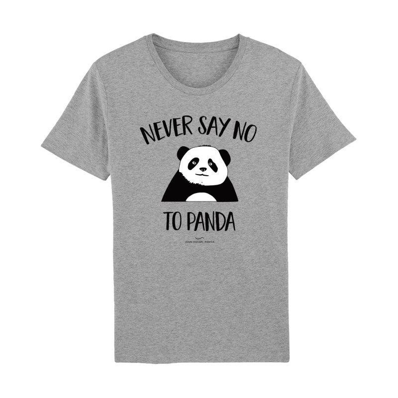 Tshirt Gris Homme - Never say no to Panda