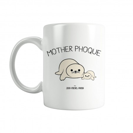 Mother phoque - Tasse blanche - Jean Michel Panda