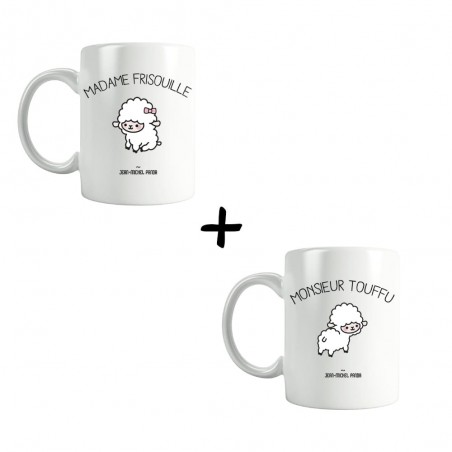 Monsieur touffu et Madame frisouille - Pack Mugs - Jean Michel Panda
