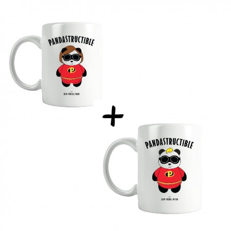 Maman & Papa Pandastructible - Pack Tasses - Jean Michel Panda