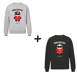 Papa & Maman pandastructible - Pack sweats - Jean Michel Panda