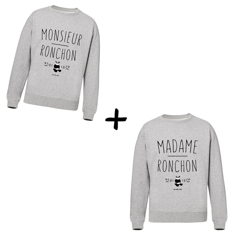 Monsieur & Madame Ronchon - Pack Sweats - Jean Michel Panda