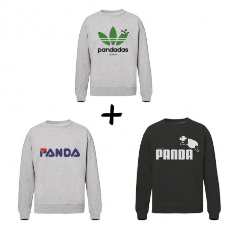 Pack Sweats Unisex - Panda...