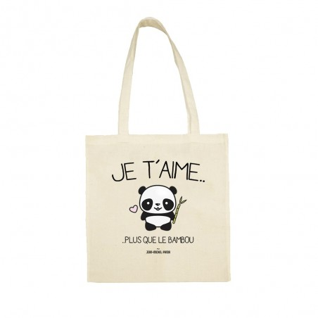 Tote bag - Je t'aime plus...