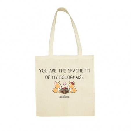 You are the spaghetti of my bolognaise - Totebag - Jean Michel Panda