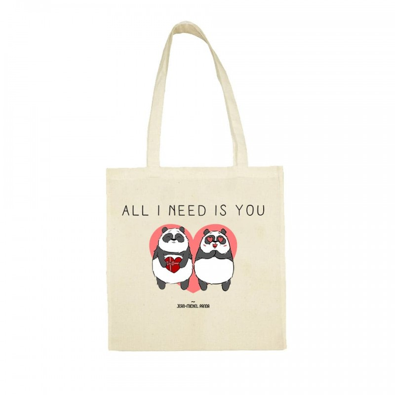 All i need is you - Totebag - Jean Michel Panda