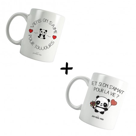 Pack Mugs - Viens on s'aime...