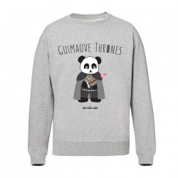 Guimauve Thrones - Sweat Unisex gris  - Jean Michel Panda