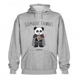 Guimauve Thrones - Sweat capuche gris - Jean Michel Panda