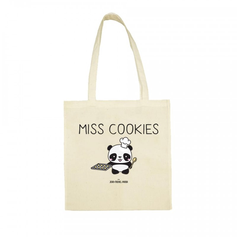Miss cookies - Sac réutilisable beige - Jean Michel Panda