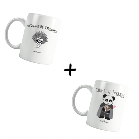 Game of Trone et Guimauve Thrones - Pack Mugs - Jean Michel Panda