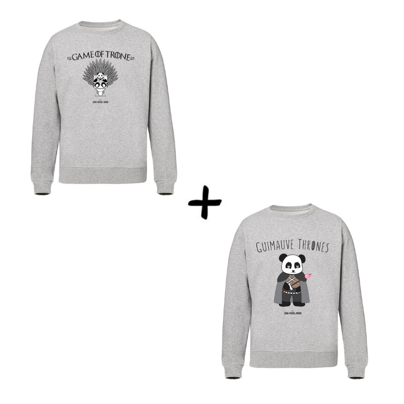 Game of Trone et Guimauve Thrones - Pack Sweats - Jean Michel Panda